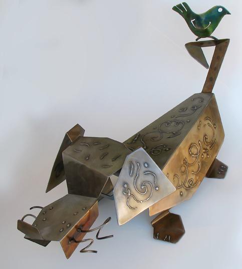 Birdie sculpture